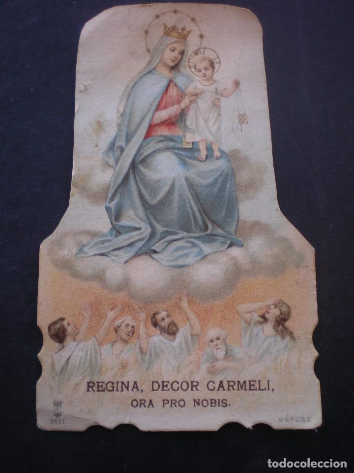 ESTAMPA RELIGIOSA, VIRGEN DEL CARMEN (Postales - Postales Temáticas - Religiosas y Recordatorios)
