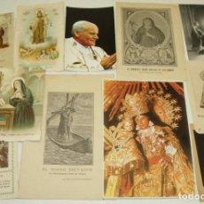 Postales: LOTE 11 ESTAMPAS ESTAMPITAS RELIGIOSAS,SANTA RITA,SAN ANTONIO DE PADUA,PANCRACIO,VIRGEN DESAMPARADOS. Lote 71675821