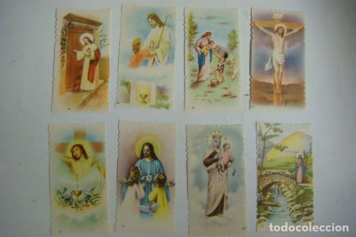 ESTAMPA RELIGIOSA LOTE DE 8 ESTAMPAS ANTIGUAS (Postales - Postales Temáticas - Religiosas y Recordatorios)