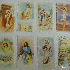 Postales: ESTAMPA RELIGIOSA LOTE DE 8 ESTAMPAS ANTIGUAS. Lote 71735227