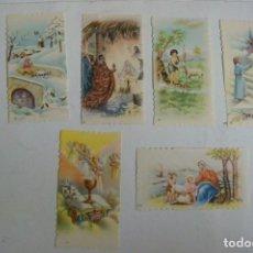 Postales: ESTAMPA RELIGIOSA LOTE DE 6 ESTAMPAS ANTIGUAS. Lote 71735623