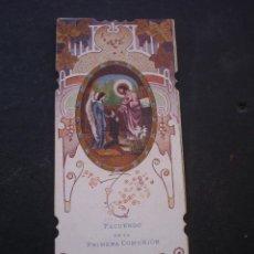 Postales: ESTAMPA RELIGIOSA, RECORDATORIO PRIMERA COMUNION, TURIS VALENCIA, 1928. Lote 71862755