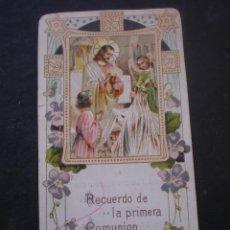 Postales: ESTAMPA RELIGIOSA, RECORDATORIO PRIMERA COMUNION, CHESTE VALENCIA 1929. Lote 71862851