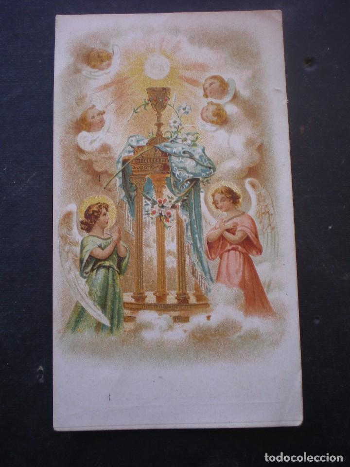 ESTAMPA RELIGIOSA, RECORDATORIO PRIMERA COMUNION, CHESTE, 1931 VALENCIA (Postales - Postales Temáticas - Religiosas y Recordatorios)