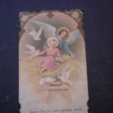 Postales: ESTAMPA RELIGIOSA, RECORDATORIO PRIMERA COMUNION, GODELLA, 1914, VALENCIA. Lote 71863111