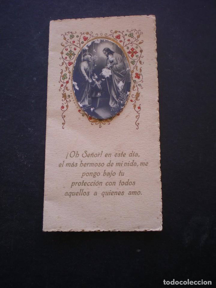 ESTAMPA RELIGIOSA, RECORDATORIO PRIMERA COMUNION, CHESTE, 1928, VALENCIA (Postales - Postales Temáticas - Religiosas y Recordatorios)