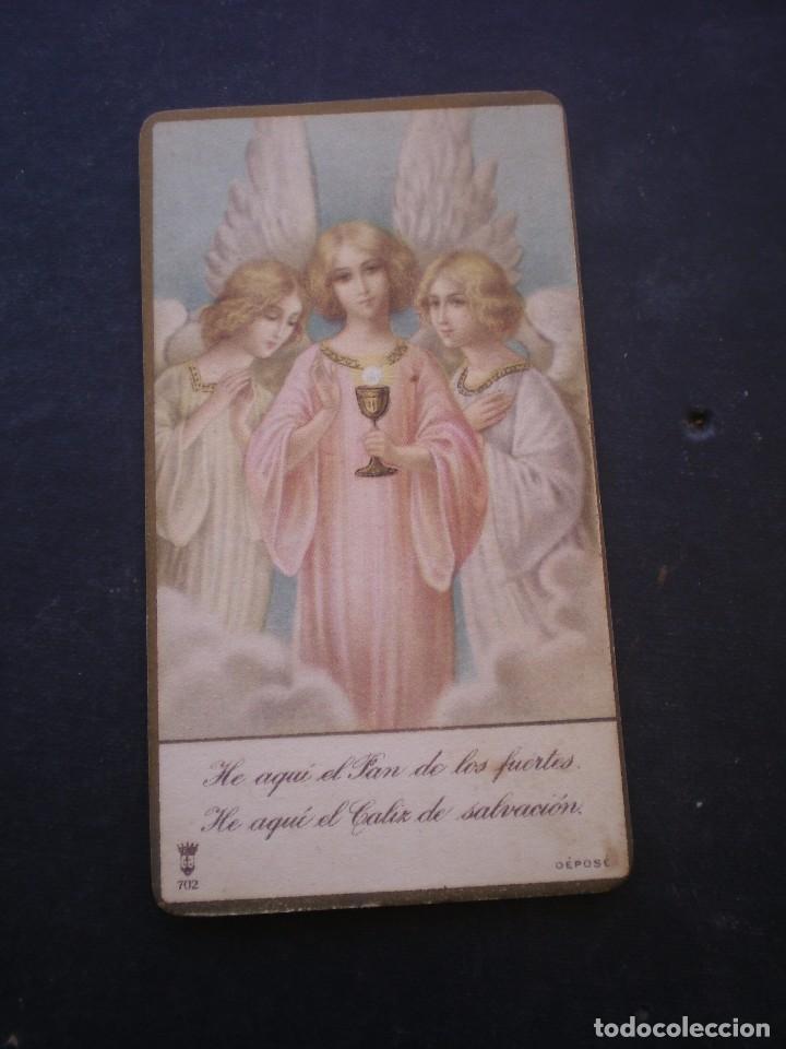 ESTAMPA RELIGIOSA, RECORDATORIO PRIMERA COMUNION, CHESTE, 1929, VALENCIA (Postales - Postales Temáticas - Religiosas y Recordatorios)