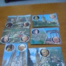 Postales: LOTES DE 6 POSTALES DE JUAN PABLO II. EN ESPAÑA. Lote 71863815
