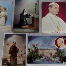 Postales: LOTE 5 POSTALES RELIGIOSAS DE LOS AÑOS 70 CIRCULADAS . Lote 71959383