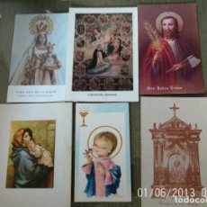 Postales: LOTE ANTIGUOS RECORDATORIOS RELIGIOSOS. Lote 72027395