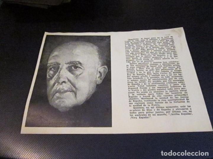 Postales: Esquela mortuoria de Francisco Franco Bahamonde, Tarragona 21 diciembre 1975 - Foto 2 - 73051523