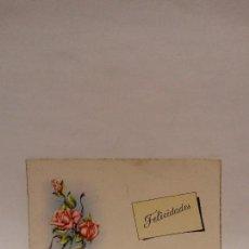 Postales: TARJETA FELICIDADES PD SERIE 1012, ESCRITA.. Lote 73486751
