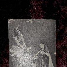 Postales: POSTAL CRISTO ATADO A LA COLUMNA Y SANTA TERESA DE ÁVILA. Lote 74206859