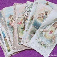 Postales: LOTE 22 ESTAMPAS RELIGIOSAS, RECORDATORIO RELIGIOSO, VER FOTOS ADICIONALES. Lote 75519747