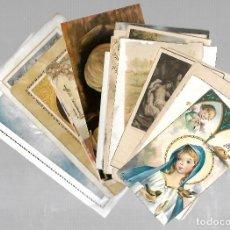 Postales: LOTE DE 25 TARJETAS RELIGIOSAS. VARIAS IMAGENES. VER. Lote 75578423