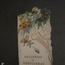 Postales: ESTAMPA ANTIGUA - MONTSERRAT- DOBLE TROQUELADA - VER FOTOS - (E-921). Lote 75707295