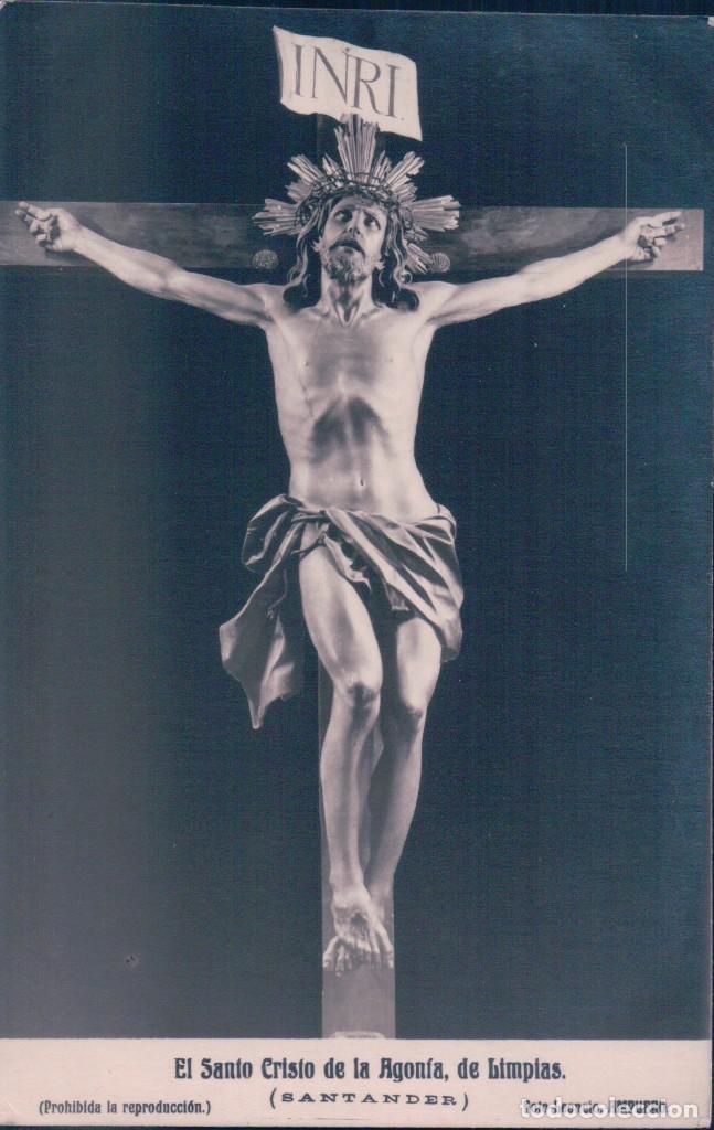 POSTAL EL SANTO CRISTO DE LA AGONIA DE LIMPIAS( SANTANDER) . FOTO LEONCIO AMPUERO (Postales - Postales Temáticas - Religiosas y Recordatorios)