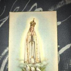 Postales: ANTIGUA POSTAL RELIGIOSA NTRA SRA DE FATIMA. Lote 75940335