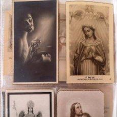 Postales: 4 RECORDATORIOS RELIGIOSOS AÑOS 50. Lote 76780359