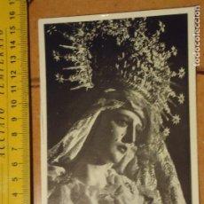 Postales: ESTAMPA RELIGIOSA SEMANA SANTA VIRGEN DE LA CONFORTACION PEGADA A CARTON. Lote 179329705
