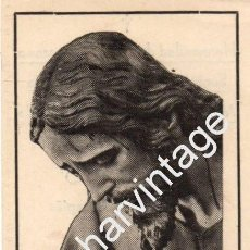 Postales: VALVERDE DEL CAMINO,1942, RECUERDO CULTOS NTRO.PADRE JESUS NAZARENO, CON RELIQUIA DE TUNICA, RARISIM. Lote 77394261