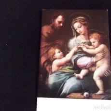 Postales: MUSEOS-V3-MUSEO DEL PRADO-RAFAEL-LA VIRGEN DE LA ROSA-DLM.776-1958. Lote 77748005