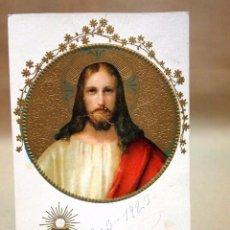 Postales: ANTIGUA POSTAL RELIGIOSA, 1923, SAGRADO CORAZON DE JESUS. Lote 78212429
