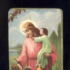 Postales: ESTAMPA RELIGIOSA: DEJAD QUE LOS NIÑOS VENGAN A MI. Lote 78309813