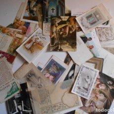 Postales: LOTAZO DE 50 RECORDATORIOS Y POSTALITAS RELIGIOSAS. AÑOS 50, 60 Y 70.. Lote 80259613