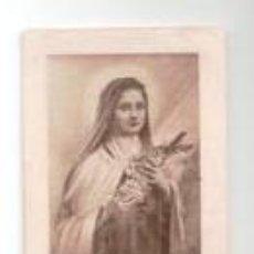 Postales: ESTAMPA EX INDUMENTIS THERESE DE LÉNFANT JESÚS, . Lote 80349541