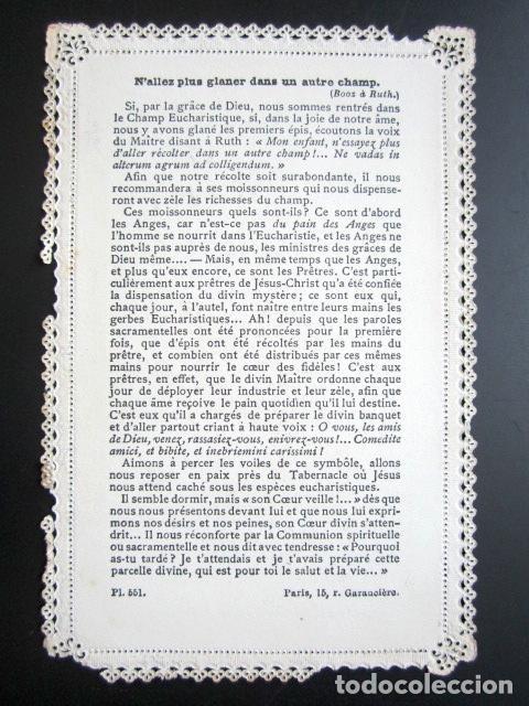 Postales: ANTIGUA ESTAMPA TROQUELADA LE CHAMP EUCHARISTIQUE. - Foto 2 - 80698578