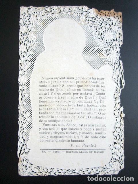 Postales: ANTIGUA ESTAMPA TROQUELADA OH DULCE REINA DE LOS CIELOS. - Foto 2 - 80698714