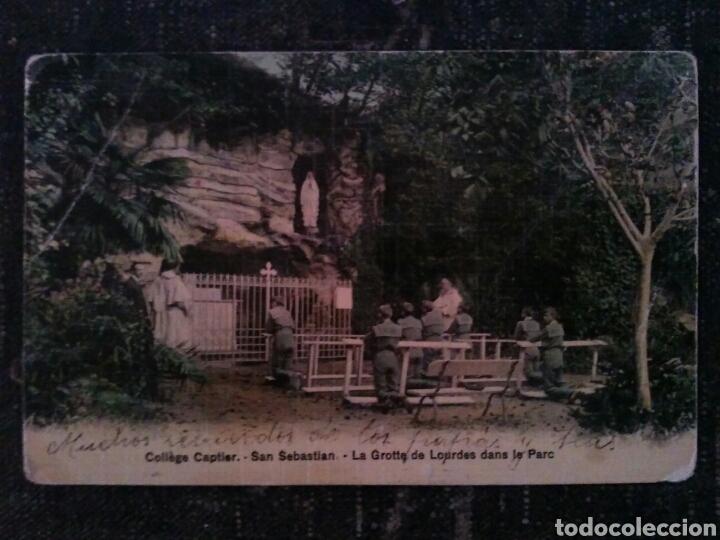 Postales: POSTAL COLEGIO CAPTIER - SAN SEBASTIAN - GRUTA DE LOURDES Y PARQUE - Foto 2 - 80885800