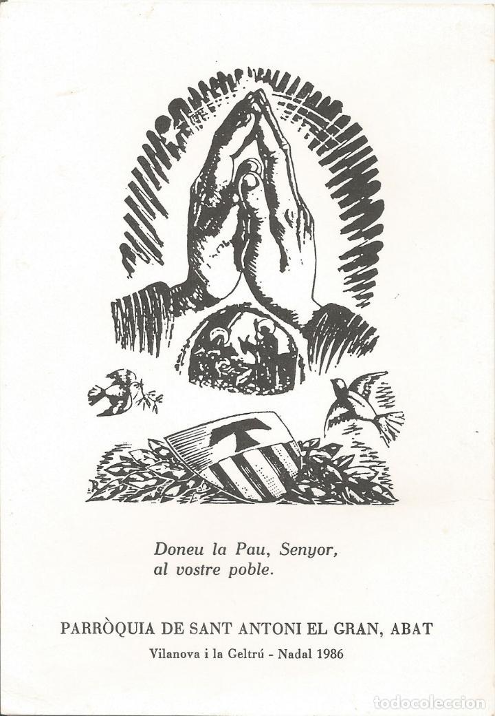 ESTAMPA NADAL 1986 - GRAVAT AL BOIX ENRIC C.RICART I NIN - (11X16) (Postales - Postales Temáticas - Religiosas y Recordatorios)