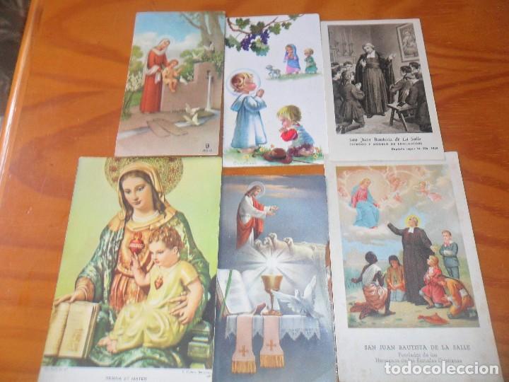 LOTE DE ESTAMPAS RELIGIOSAS ANTIGUAS -- (Postales - Postales Temáticas - Religiosas y Recordatorios)