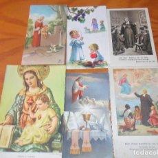 Postales: LOTE DE ESTAMPAS RELIGIOSAS ANTIGUAS --. Lote 81674540