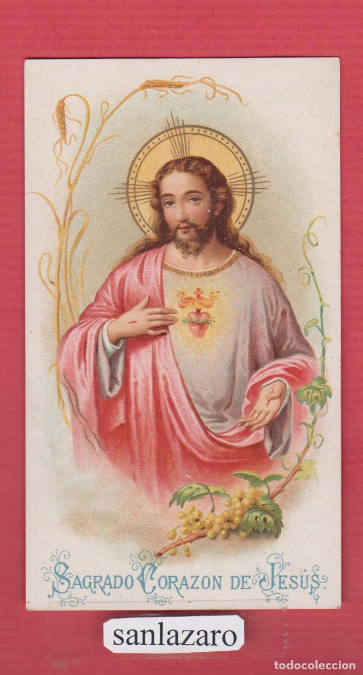 estampa religiosa a color sagrado corazon de je - Comprar Postales ...