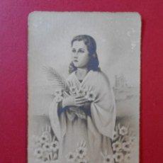 Postales: ANTIGUA ESTAMPA RELIGIOSA - SANTA MARIA GORETTI - MARTIR DE LA PUREZA.- ESCRITA REVESO 1950.. R-5528. Lote 82806744