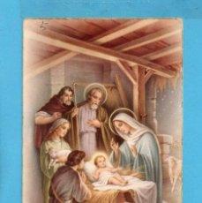 Postales: POSTAL DE SAN JOSÉ Y NIÑO JESÚS Y MARÍA NACIMIENTO EDITOR ANCORA ESCRITA. Lote 83130020