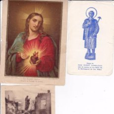 Postales: 3 ESTAMPAS RELIGIOSAS DIFERENTES AÑOS . Lote 83671540