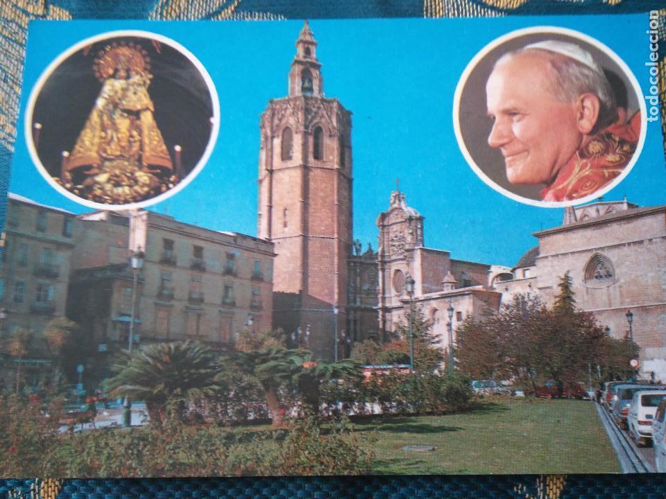 POSTAL SEMANA SANTA - VIRGEN DE LOS DESAMPARADOS DE VALENCIA VISITA DEL PAPA JUAN PABLO II (Postales - Postales Temáticas - Religiosas y Recordatorios)