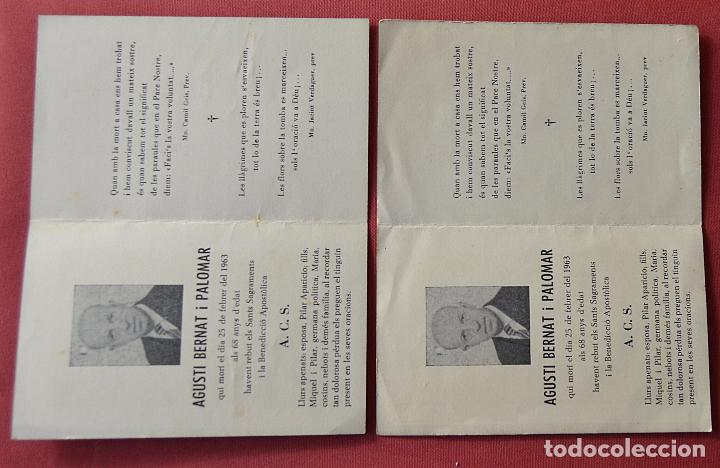 Postales: 2 RECORDATORIOS DE DEFUNCION - DIPTICOS - CRUCIFIJO - 1963 - Foto 3 - 84200948