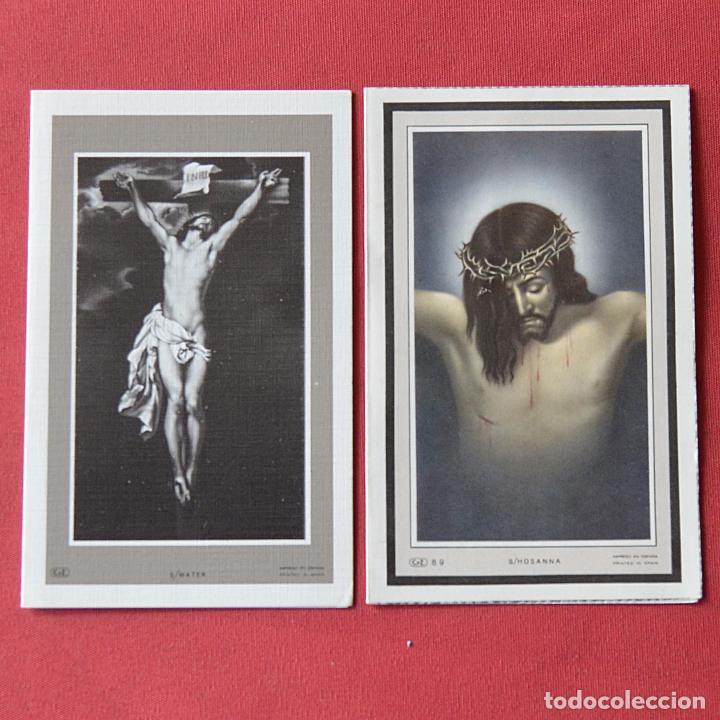 Postales: 2 RECORDATORIOS DE DEFUNCION - DIPTICOS - CRUCIFIJO - VIRGEN - Foto 2 - 84201004