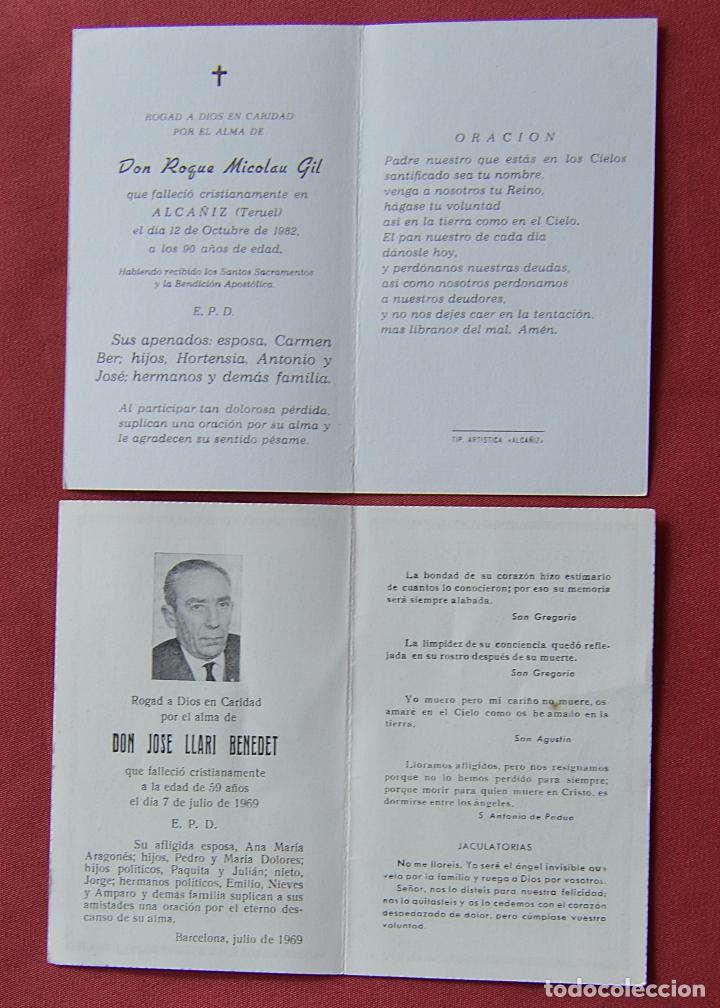Postales: 2 RECORDATORIOS DE DEFUNCION - DIPTICOS - CRUCIFIJO - VIRGEN - Foto 3 - 84201004
