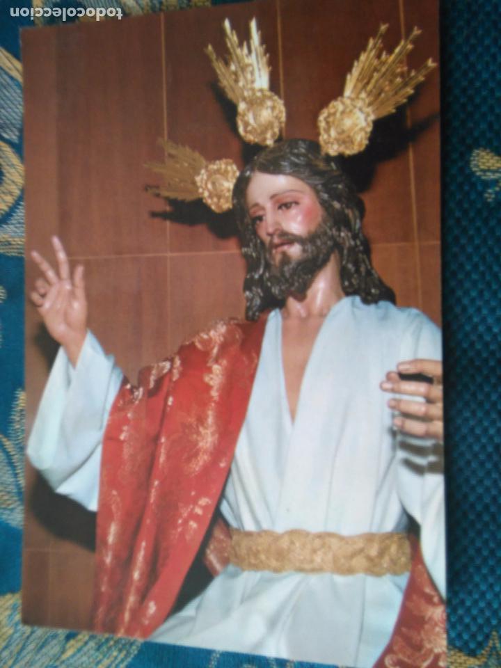 POSTAL SEMANA SANTA - VIRGEN Y CRISTO JESUS DE LA PAZ CADIZ (Postales - Postales Temáticas - Religiosas y Recordatorios)