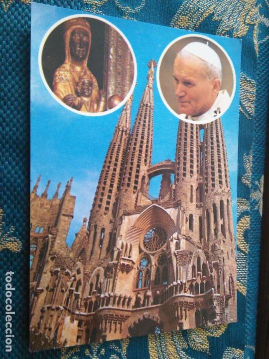 POSTAL SEMANA SANTA - VIRGEN DE MONTSERRAT VISITA PAPA JUAN PABLO SEGUNDO II (Postales - Postales Temáticas - Religiosas y Recordatorios)