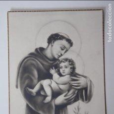 Postales: POSTAL RELIGIOSA, SAN ANTONIO DE PADUA (SIGLO XIX). Lote 84550408