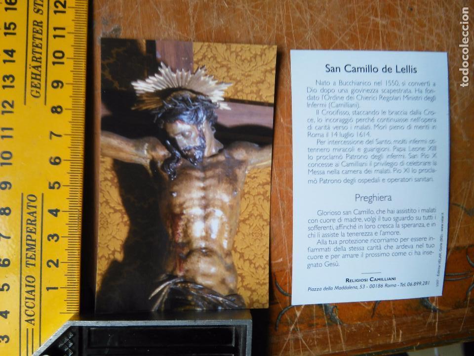 IMAGEN - ESTAMPA RELIGIOSA SAN CAMILLO DE LELLIS - CRISTO CRUCIFICADO (Postales - Postales Temáticas - Religiosas y Recordatorios)