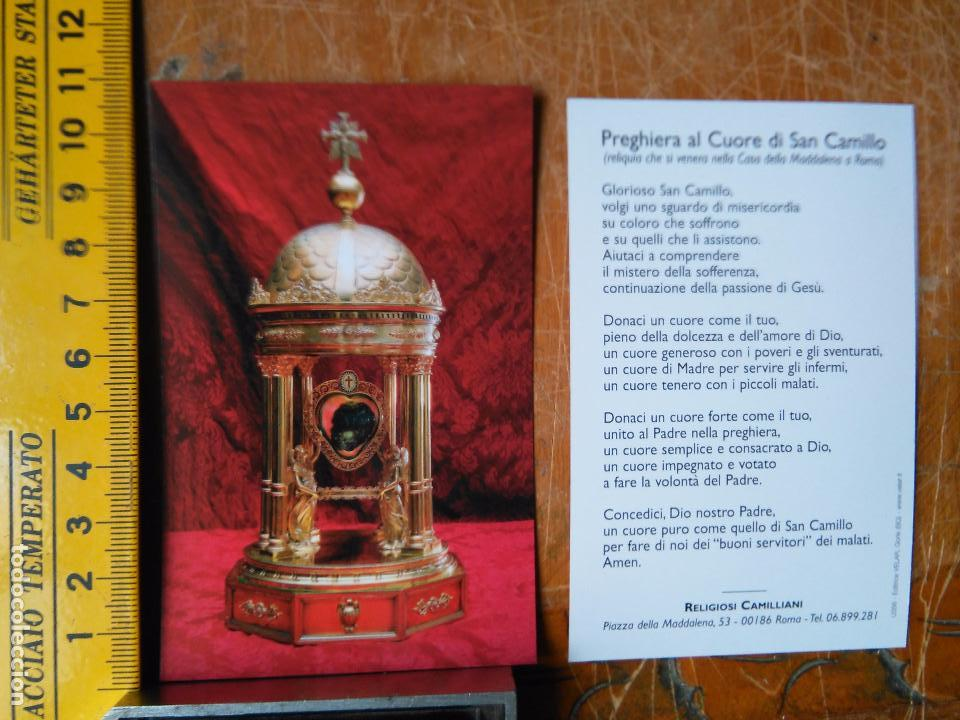 IMAGEN - ESTAMPA RELIGIOSA PREGHIERA AL CUORE DI SAN CAMILO (Postales - Postales Temáticas - Religiosas y Recordatorios)