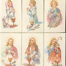 Postales: LOTE DE 6 ESTAMPAS RELIGIOSAS. ESTAMPA. Lote 85138064